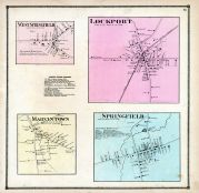 Lockport, Springfield, West Springfield,  Marvintown, Erie County 1865